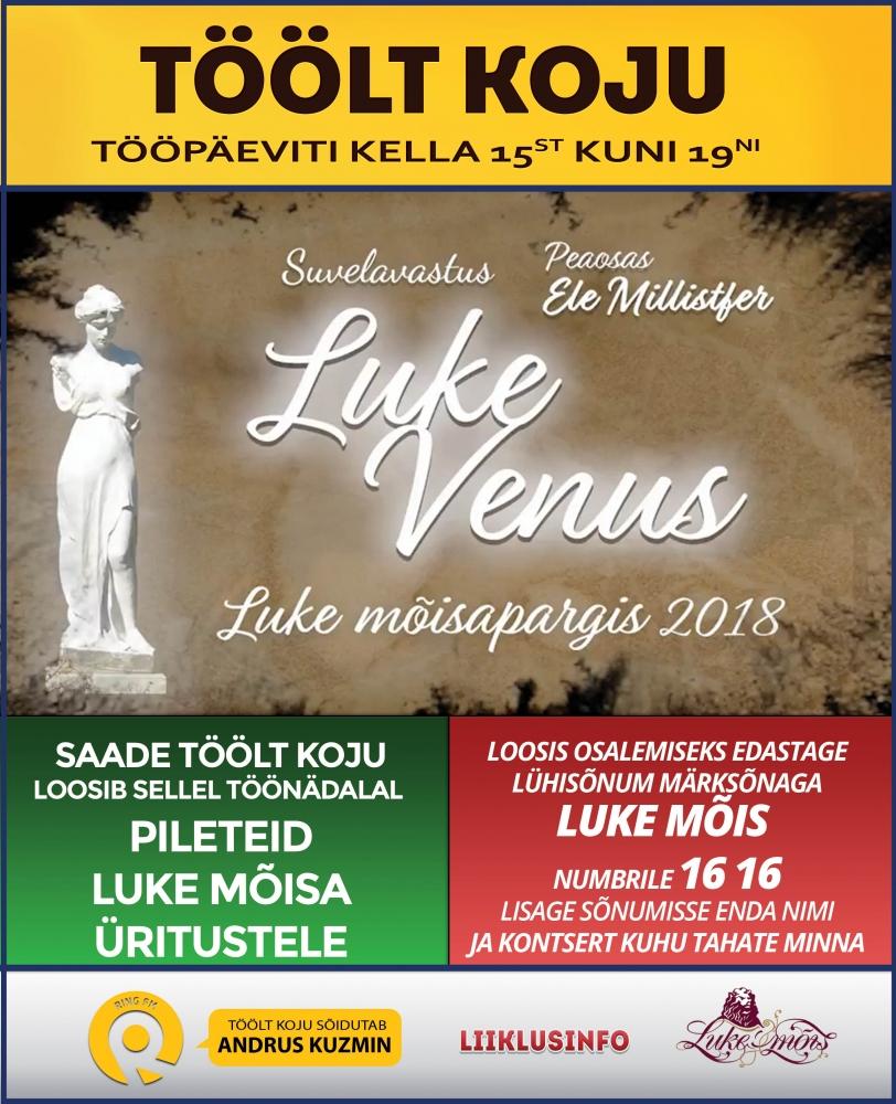 Saade Töölt Koju loosib sellel nädalal välja pileteid Luke Mõisa suveüritustele!
